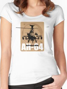 AH-64 Apache Helicopter Women's Fitted Scoop T-Shirt