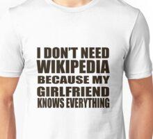 I don't need Wikipedia Unisex T-Shirt