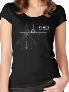 F-100 Super Sabre Women's Fitted Scoop T-Shirt