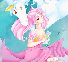 Chibiusa and Pegasus by stacylgage