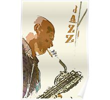 Saxophonist Jazz Poster Poster