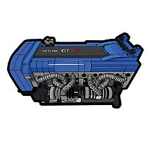Lego RB26 motor w/outline Photographic Print