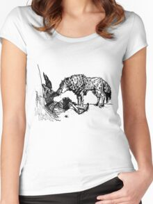Sif The Wolf Women's Fitted Scoop T-Shirt