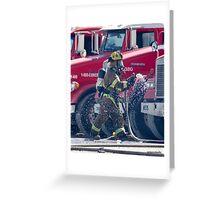 Fireman Las Vegas Greeting Card