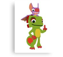 Yooka Laylee Vector Canvas Print