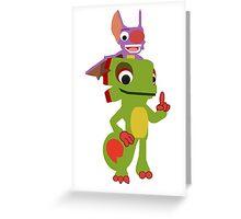 Yooka Laylee Vector Greeting Card