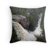 2009 Spring run off at Aguasabon Falls - Terrace Bay Throw Pillow