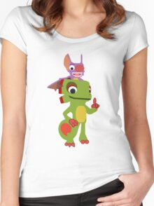 Yooka Laylee Vector Women's Fitted Scoop T-Shirt
