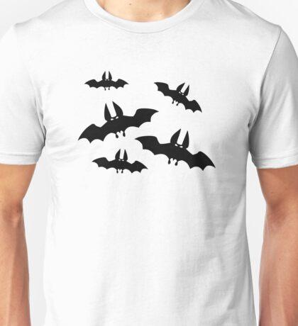 Black horror bats Unisex T-Shirt