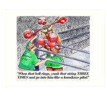 Boxing Fans Art Print