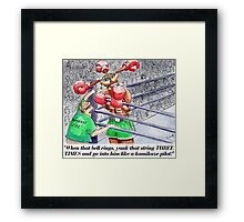 Boxing Fans Framed Print