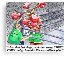 Boxing Fans Canvas Print