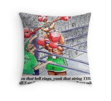 Boxing Fans Throw Pillow