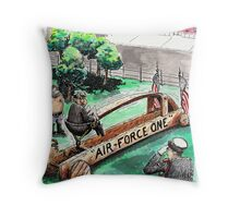 Leaving Office Throw Pillow