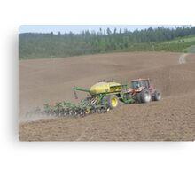 Planting on the farm Canvas Print