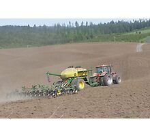 Planting on the farm Photographic Print