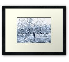 Blue Tree Wire Framed Print