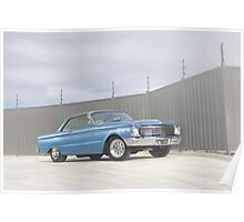 Blue Ford Falcon XP Coupe Poster
