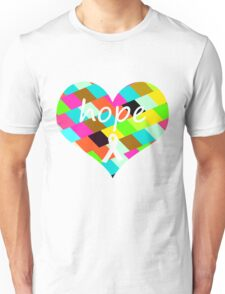 Colorful Hope Heart Unisex T-Shirt