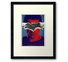 Superman vs Batman Poster Framed Print