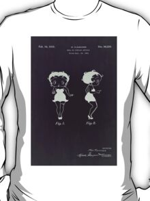 Betty Boop vintage patent from 1932. T-Shirt