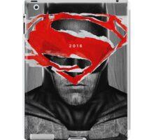 Superman vs Batman Poster iPad Case/Skin