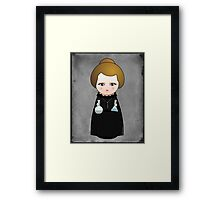 Kokeshi Madame Curie Framed Print