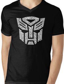 Transformer Autobots White Mens V-Neck T-Shirt