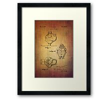 Santa Claus vintage toy patent from 1948 Framed Print