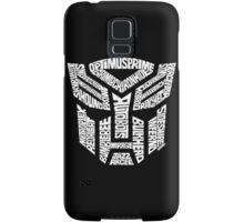 Transformer Autobots White Samsung Galaxy Case/Skin