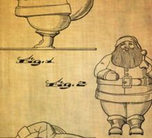 Santa Claus vintage toy patent from 1948 Sticker