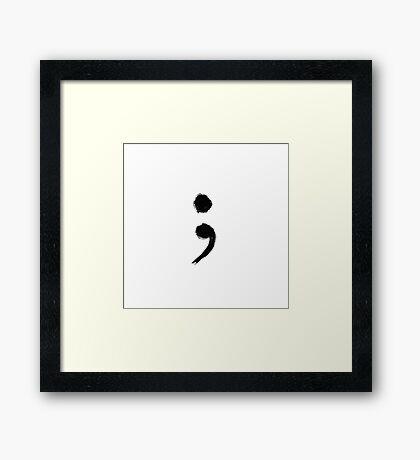 Semicolon; Framed Print