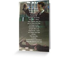 Doctor Who - Eleven Greeting Card