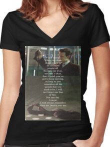 Doctor Who - Eleven Women's Fitted V-Neck T-Shirt