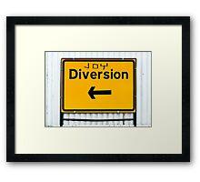 Joy Diversions Framed Print