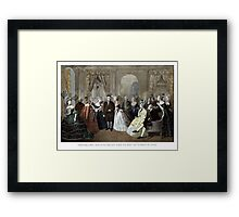 Franklin's Reception At The Court Of France Framed Print