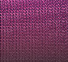 Large Pink Chainmail by EvonEli