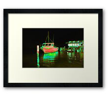 Fishing at Woy Woy bay 2.0 Framed Print