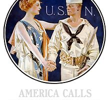 America Calls Enlist In The Navy by warishellstore