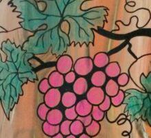 Pink Grapes Sticker