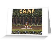 Camp: Bonfire Greeting Card