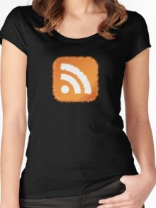 RSS Feed Women's Fitted Scoop T-Shirt