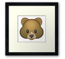 Bear Emoji Framed Print