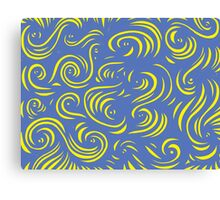 Rinaldo Abstract Expression Yellow Blue Canvas Print
