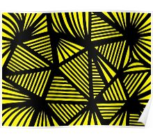 Bolde Abstract Expression Yellow Black Poster