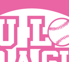 Women's baseball T-shirt Sticker