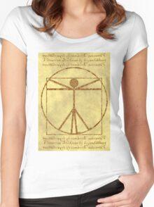 Vitruvian Stickman Women's Fitted Scoop T-Shirt
