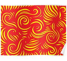Magni Abstract Expression Yellow Red Poster