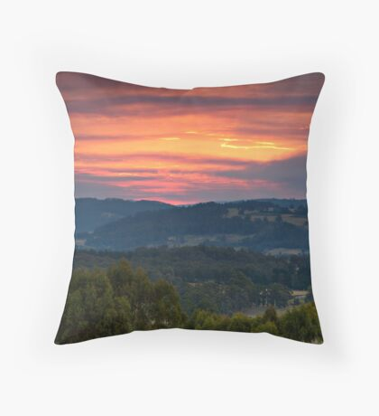Fiery Sunset Throw Pillow
