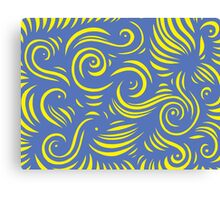 Mells Abstract Expression Yellow Blue Canvas Print